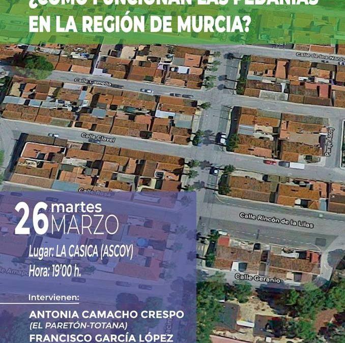 Mesa redonda 'Cómo funcionan las pedanías en la Región de Murcia'