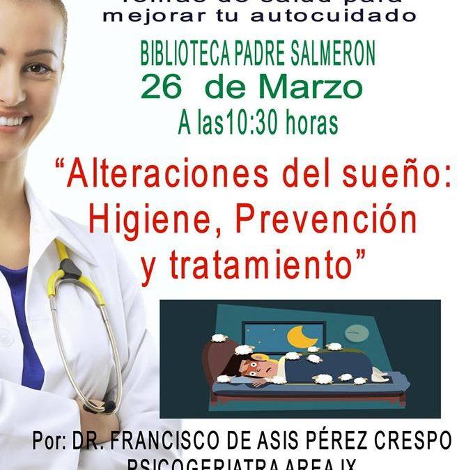 Charla 'Alteraciones del sueño: higiene, prevención y tratamiento'