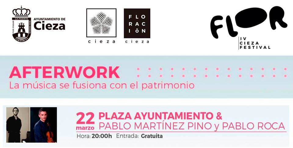 Concierto de Pablo Martínez Pino y Pablo Roca este viernes en la Plaza Mayor de Cieza