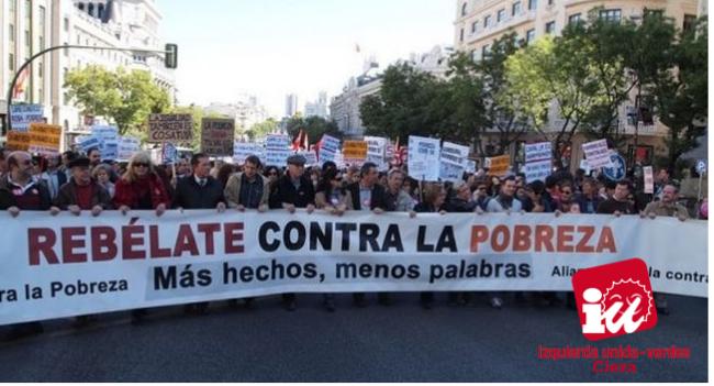 """IU-Verdes: """"Hay que dotar de fondos las políticas de lucha contra la pobreza"""""""