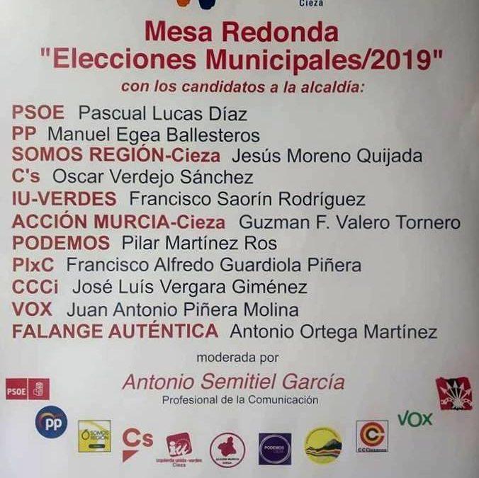 Mesa redonda 'Elecciones Municipales 2019' en el Teatro Capitol