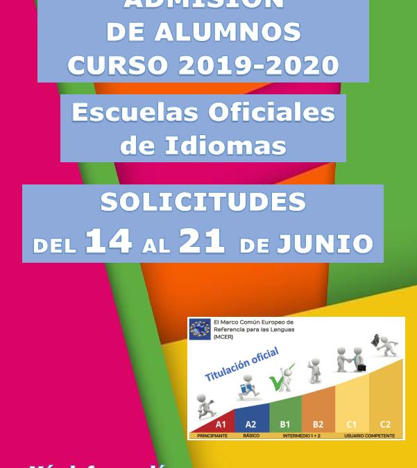 Se abre el plazo de admisión en la escuela oficial de idiomas del 14 al 21 de junio
