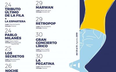 Miguel Campello, La Pegatina, Los Secretos, Pablo Milanés, Marwan, Retropop y mucho más, los conciertos de la Feria y Fiestas Cieza 2019