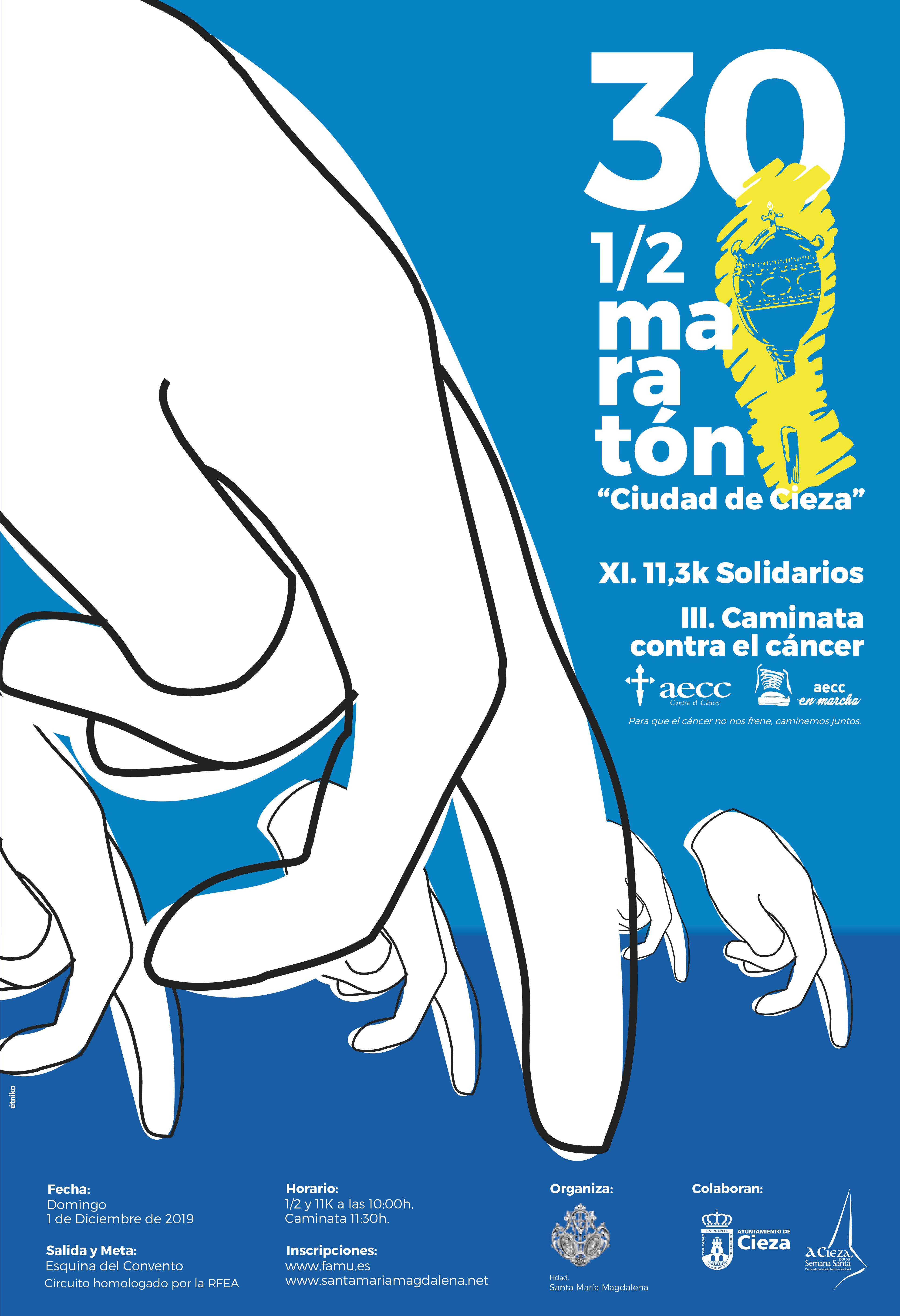 Imagen del Cartel de la Media Maratón de Cieza.