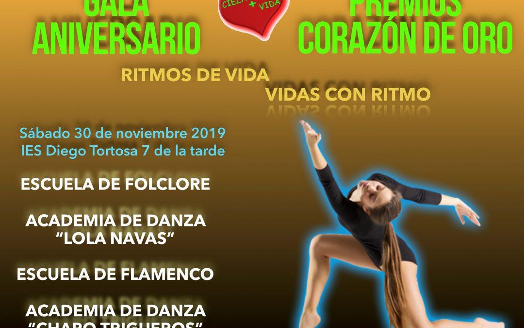 Gala Aniversario Cieza+Vida 'Premios Corazón de Oro'