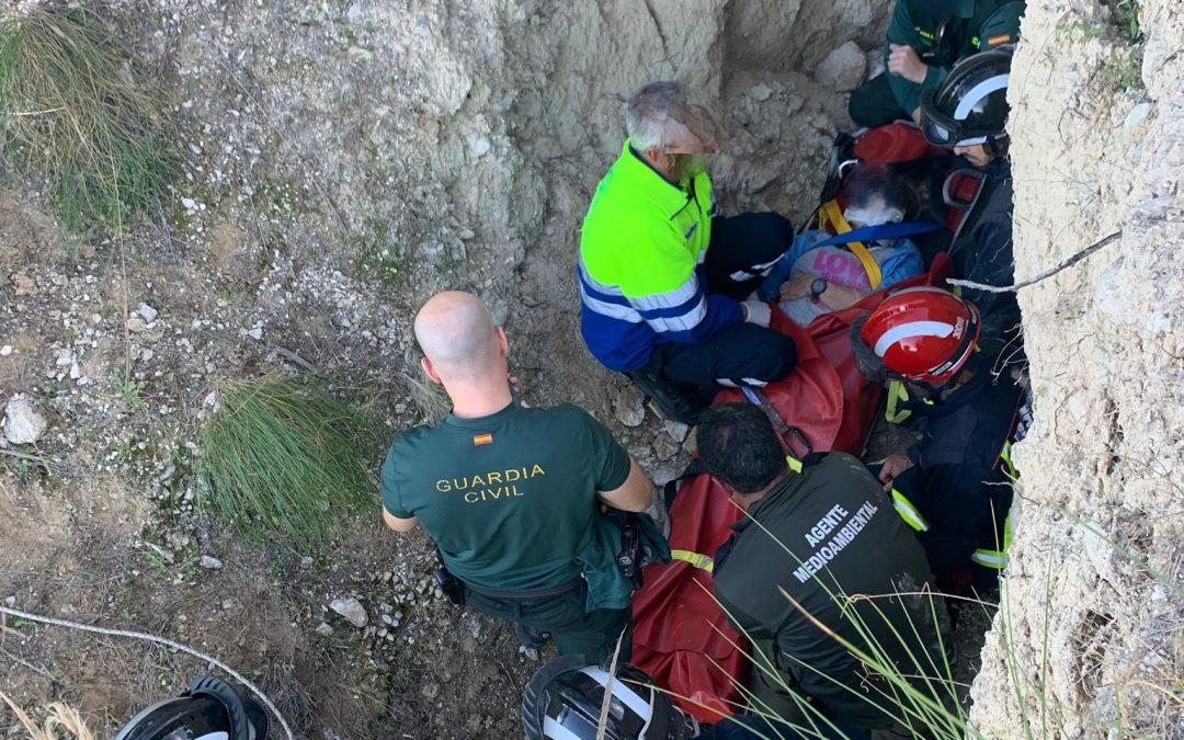 Rescatan a una senderista tras sufrir una caída en La Atalaya