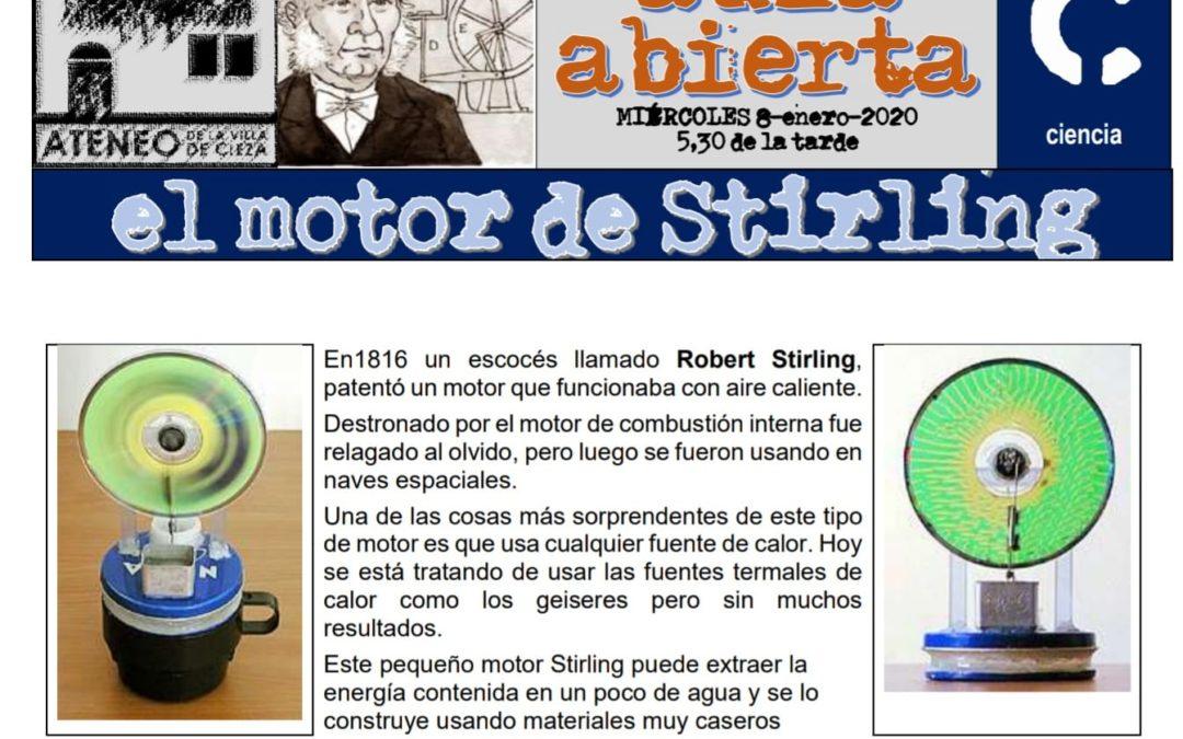 Nueva charla en el ciclo Aula Abierta sobre 'El motor de Stirling'