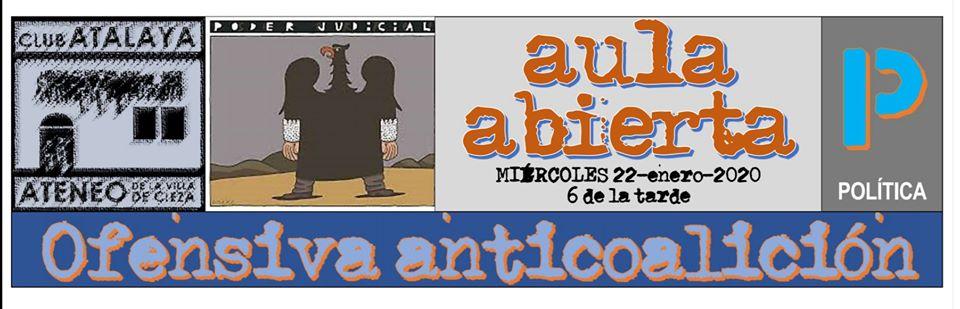 Nueva edición del ciclo Aula Abierta en el Club Atalaya-Ateneo de la Villa de Cieza