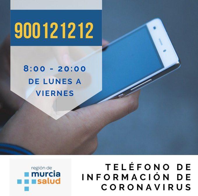 La Comunidad habilita un teléfono gratuito de información sobre el coronavirus.