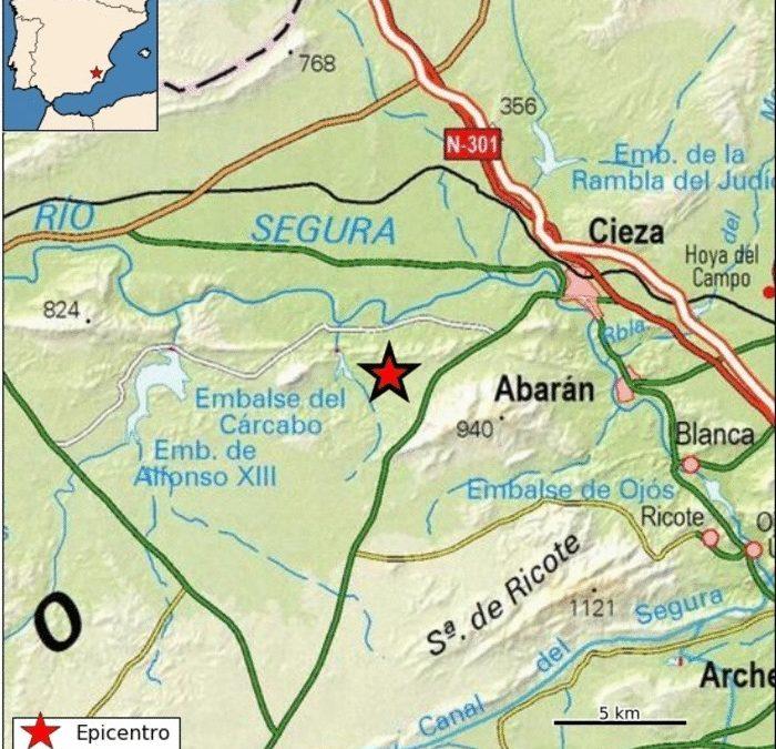 Cieza registra un temblor con magnitud 2.2 en la escala Richter en la noche de este lunes