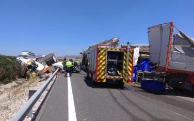 Un accidente multiple deja 4 heridos en Cieza