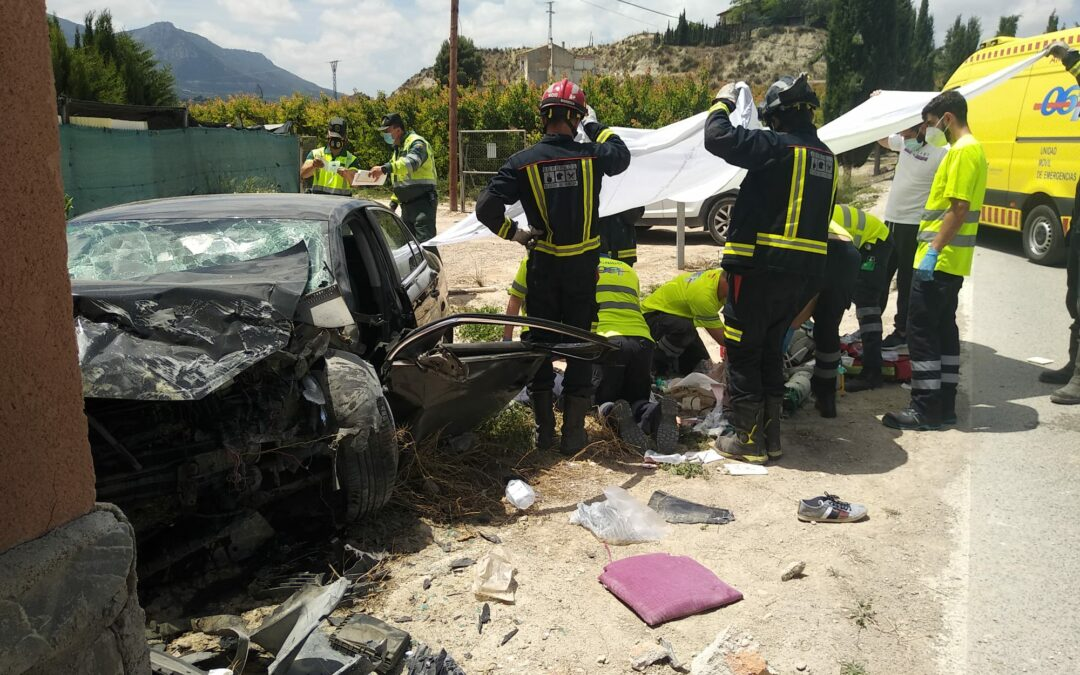 Un fallecido en accidente de tráfico en Cieza