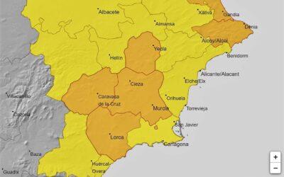 AEMET activa aviso naranja por lluvias y tormentas para este lunes