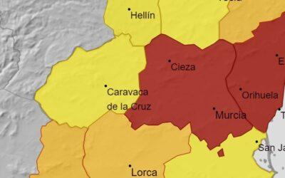 Nivel de alerta rojo por altas temperaturas en Cieza y el Valle de Ricote